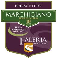 Etichetta Prosciutto Marchigiano Riserva 18 mesi - Faleria